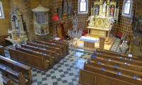 pohled na interiér kostela